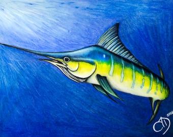 Blue Marlin Artwork