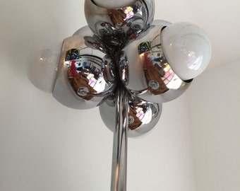 VINTAGE CHROME GLOBE Table Lamp