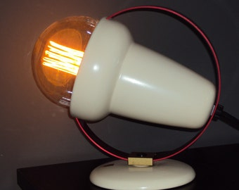 Vintage Philips lamp, Design by Charlotte Perriand from 1952. Interior modernised and grounded.