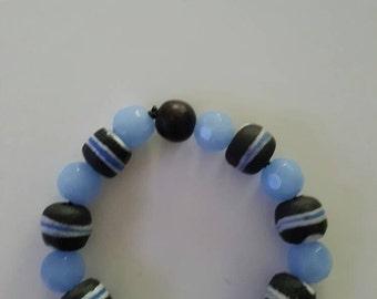 Blue Africian stone bracelet