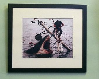 Jaws movie scene framed 8' x 10' photo