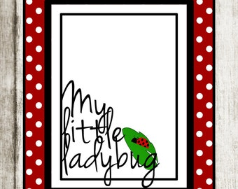 My Little Ladybug Print: Nursery Decor