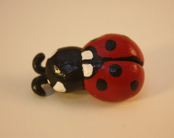 Red Ladybug Ladybird Brooch
