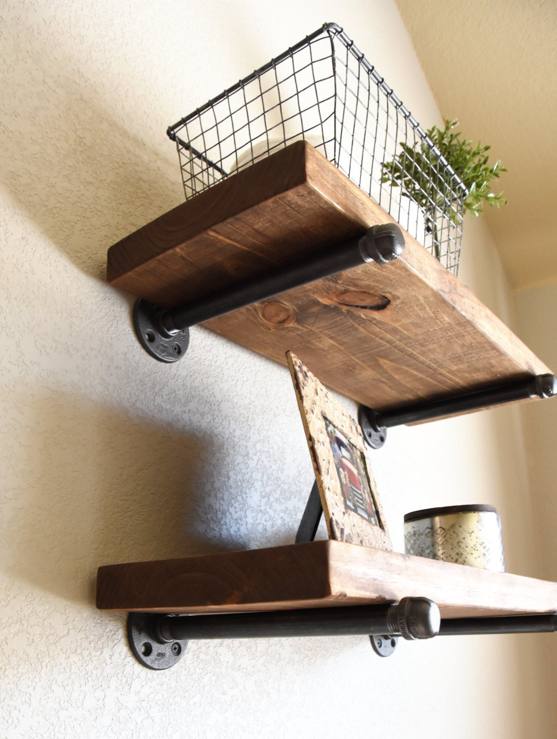 10 Deep Farmhouse Floating Shelf Industrial Rustic
