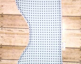 Navy Dot Burp Cloth