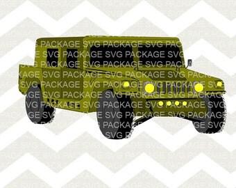 SVG Clipart, Jeep Svg, Jeep Clipart, Jeep Svg Clipart Png, Svg Cutting File, Svg Design, Clipart Vector File Truck,  Truck svg, Truck png