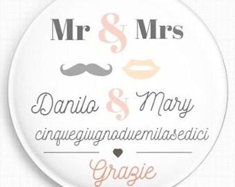 Magnet-magnet grooms Wedding Favor segnaosto or no 25, customizable pieces