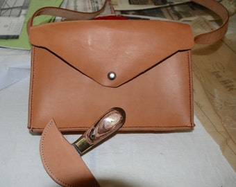 Simple Oiled Leather Bag with strap