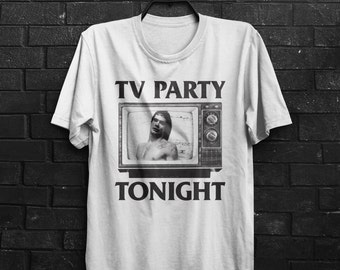 TV Party Tonight Inspired Flag Black Punk Metal Mens & Women's T-shirt Top Tee Shirt All Sizes And Colours