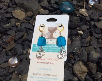 Get your Ohm on SeaGlass Earrings