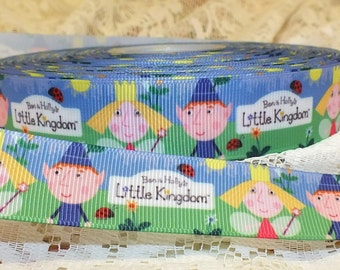 "Ben & Holly's Little Kingdom 7/8"" (22 mm) Grosgrain Ribbon, Craft, Hair, Cake, Scrapbooking 1 yard"