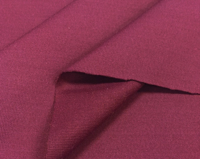 Nylon Knit Fabric With Spandex (Wholesale Price Available By The Bolt) USA Made Premium Quality - 3120NY Merlot - 1 Yard