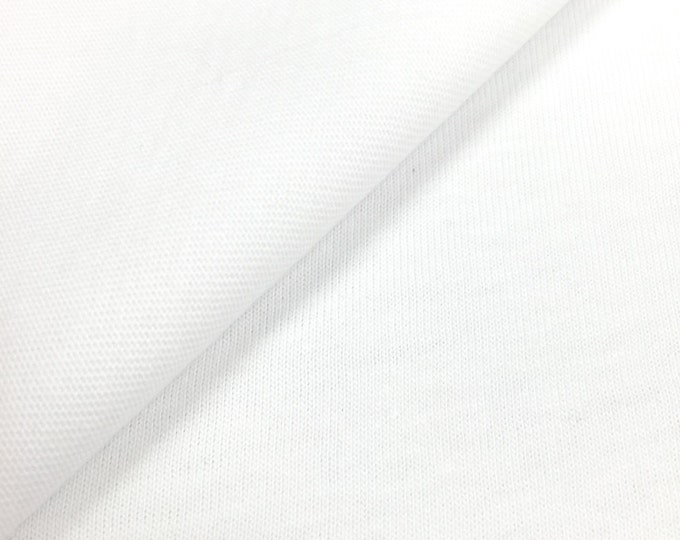 100% Cotton Jersey Knit Fabric (Wholesale Price Available By The Bolt) USA Made Premium Quality - 2418UC PFD Optic - 1 Yard