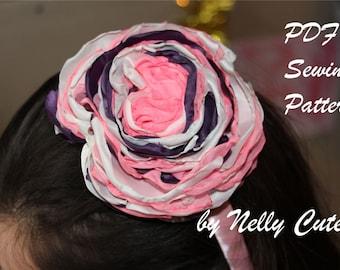 Fabric Flowers Tutorial PDF, Headband Pattern, Fabric Flowers Pattern PDF, Girls sewing pattern, Baby sewing pattern, Handmade accessories