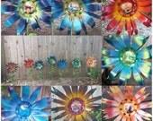 Harry Potter Metal Flowers, Harry Potter Fan Art, Metal Flower Decor, Young Adult Book Art *set of 7*