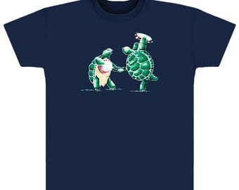 Grateful Dead T-Shirt -Terrapin Station Turtles on a Navy/