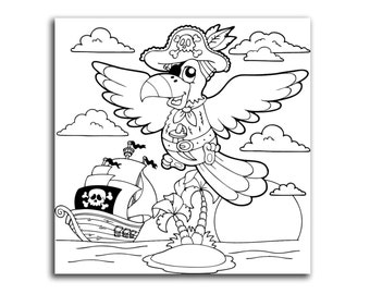 Pirate Parrot Canvas Kids