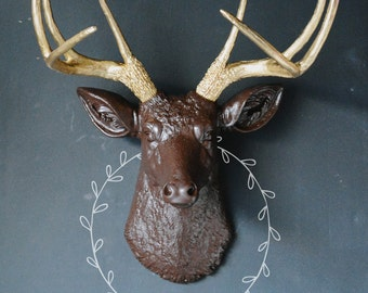Faux Taxidermy, Any Color Deer Head, Fall Decor, Animal Head, Deer Head, Fake Deer Head, Deer Antlers, Resin Deer Head, Stag Wall Head