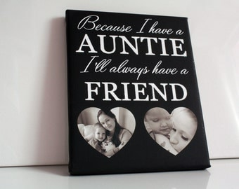 Because I have a mum I'll always have a friend quote picture personalised photo gift mothers day keepsake