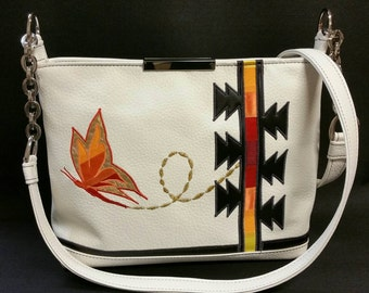 Yellowhouse Butterfly crossbody bag: Native American Made Leather Bag