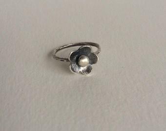 Daisy Ring: Handmade, Sterling Silver