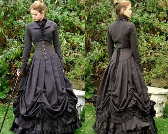 Pinstripe Villetta Skirt (includes hoop and petticoat)