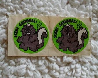 "Vintage Scratch & Sniff sticker ""Scent-Sational"""
