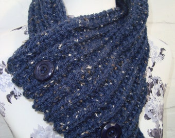 Scarf loop blue Schlaufenschal infinity scarf