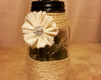 Ball Quart Mason Jar Vase with Accents