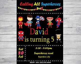 Baby super heroes invitation , Baby super heroes  party, Baby super heroes , kids super heroes invitation, super heroes birthday - printable