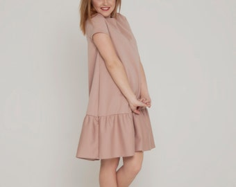 Rose color dress