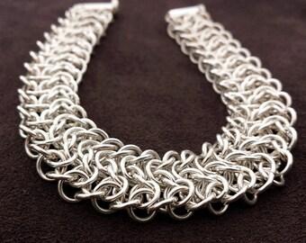 Sterling Silver Chainmail Bracelet - Elfweave