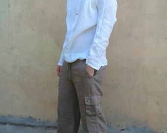 Summer Linen Shorts 3/4th Pants
