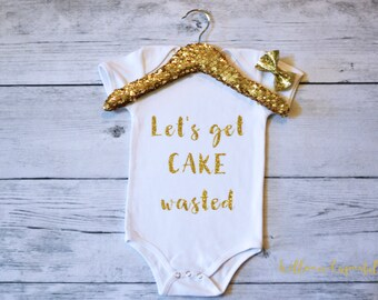 First Birthday Shirt, Funny First Birthday Shirt, First Birthday Outfit, Gold Glitter One Shirt,