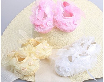Shoes lace soft sole with bow