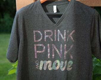 Drink Pink and Move, Plexus shirt, the pink drink, Plexus promo, Drink Pink shirt, drink pink tshirt, Plexus swag, Plexus, sparkle