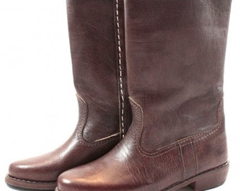 Walidia brown leather boots