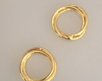18 ct vemeil love knot spacer