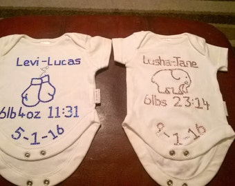 Personalised bling baby vest - keepsake