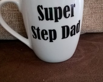 Super step dad mug perfect for fathers day gift