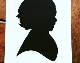 Beautiful Handmade Silhouette Papercut of Child/Children/Kids/Pets