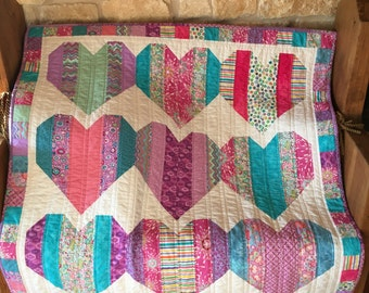 Scrappy Hearts Baby/Toddler Quilt