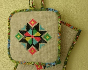 "Potholders ""Eight-pointed star"""