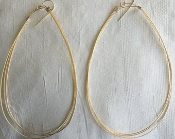 Almond Gold Hoops