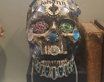 Jewel Encrusted Skull