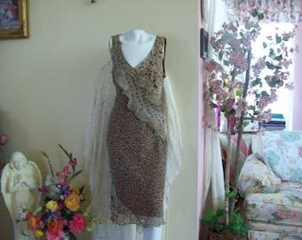 Vintage Robbie Bee leopard print v-neck sundress