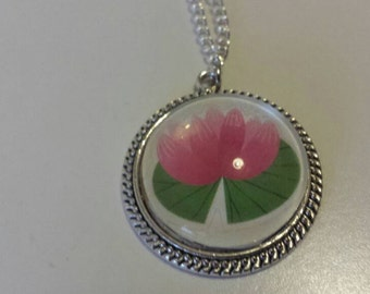 Water lily medallion and chain