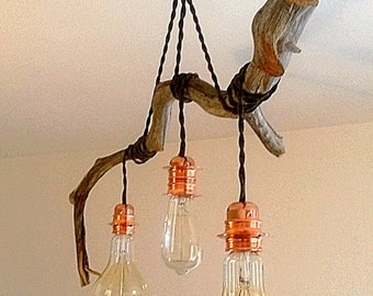 Light wood suspended