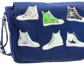 "Canvas shoulder bag ""Trainers"""