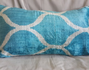 "16""×24"" 40×60 cm Hand Woven Anatolian  Pillow Cushion Cover Decorative Pillow Silk İkat Velvet Pillow Home İnterior"
